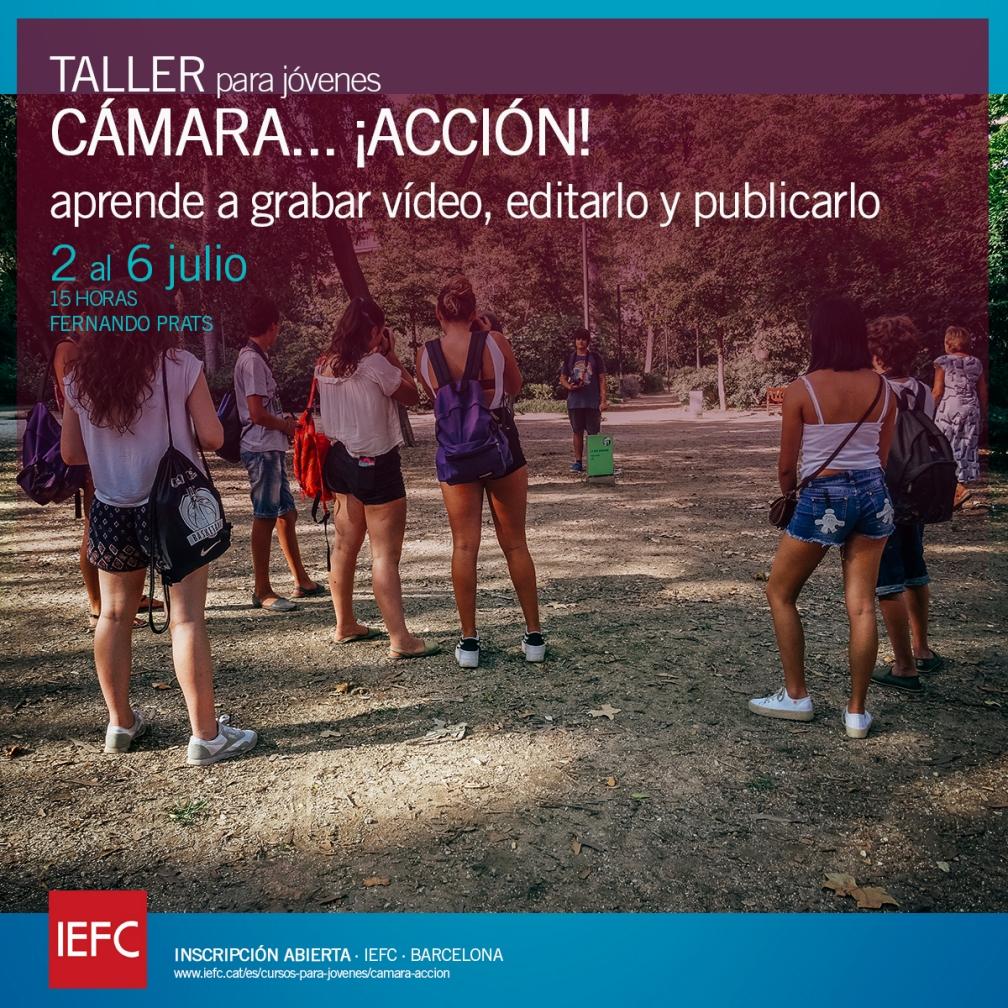 Inscripción abierta para CÁMARA... ¡ACCIÓN! Grabación, edición y publicación de vídeos desde el móvil